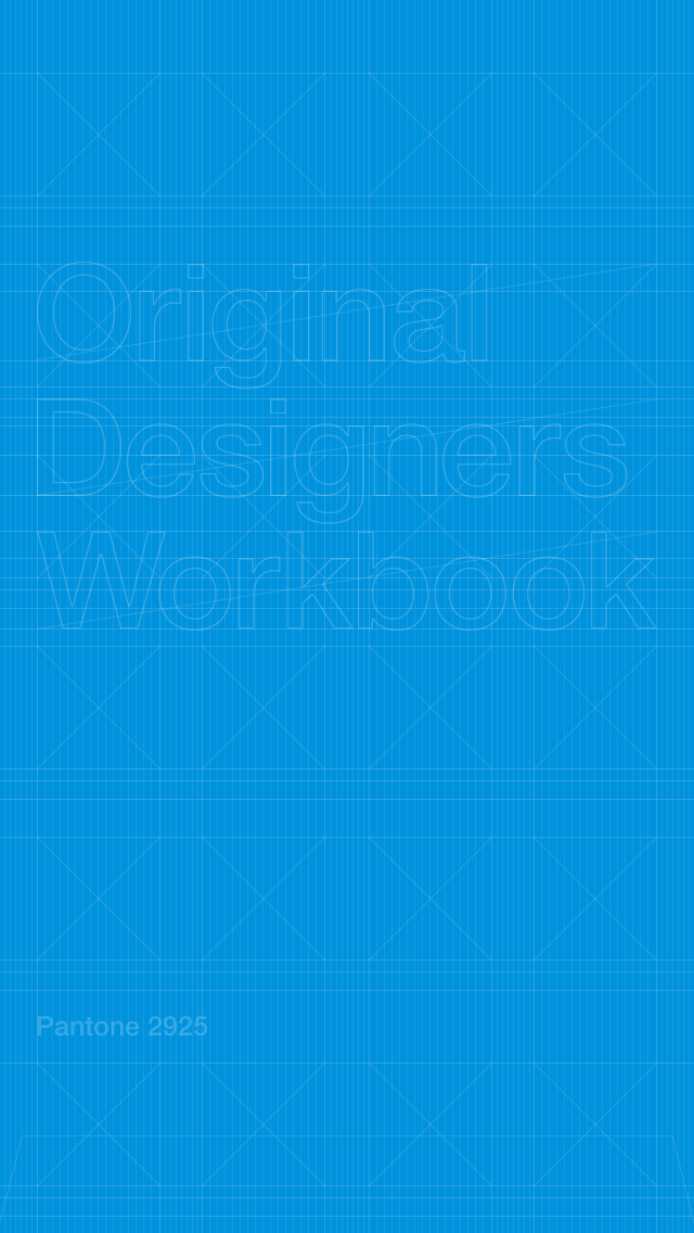 Original Designers Workbook Pantone 2925 iPhone wallpaper