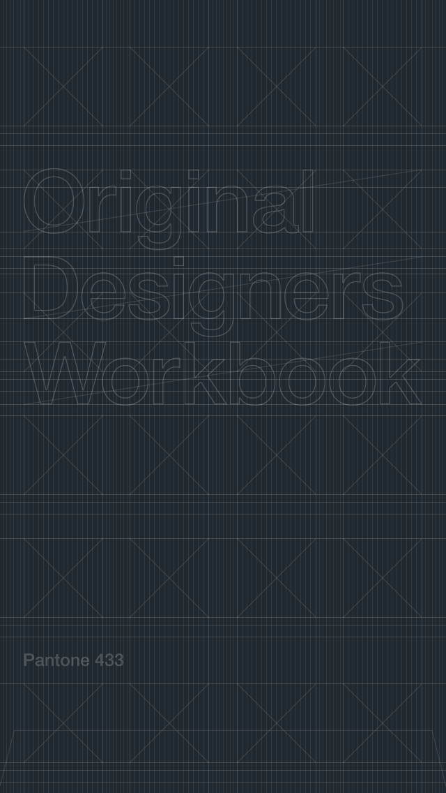 Original Designers Workbook iPhone wallpaper Pantone 433