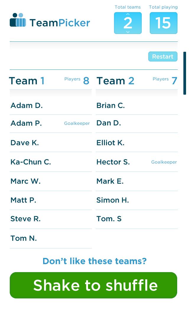 06 Picked teams