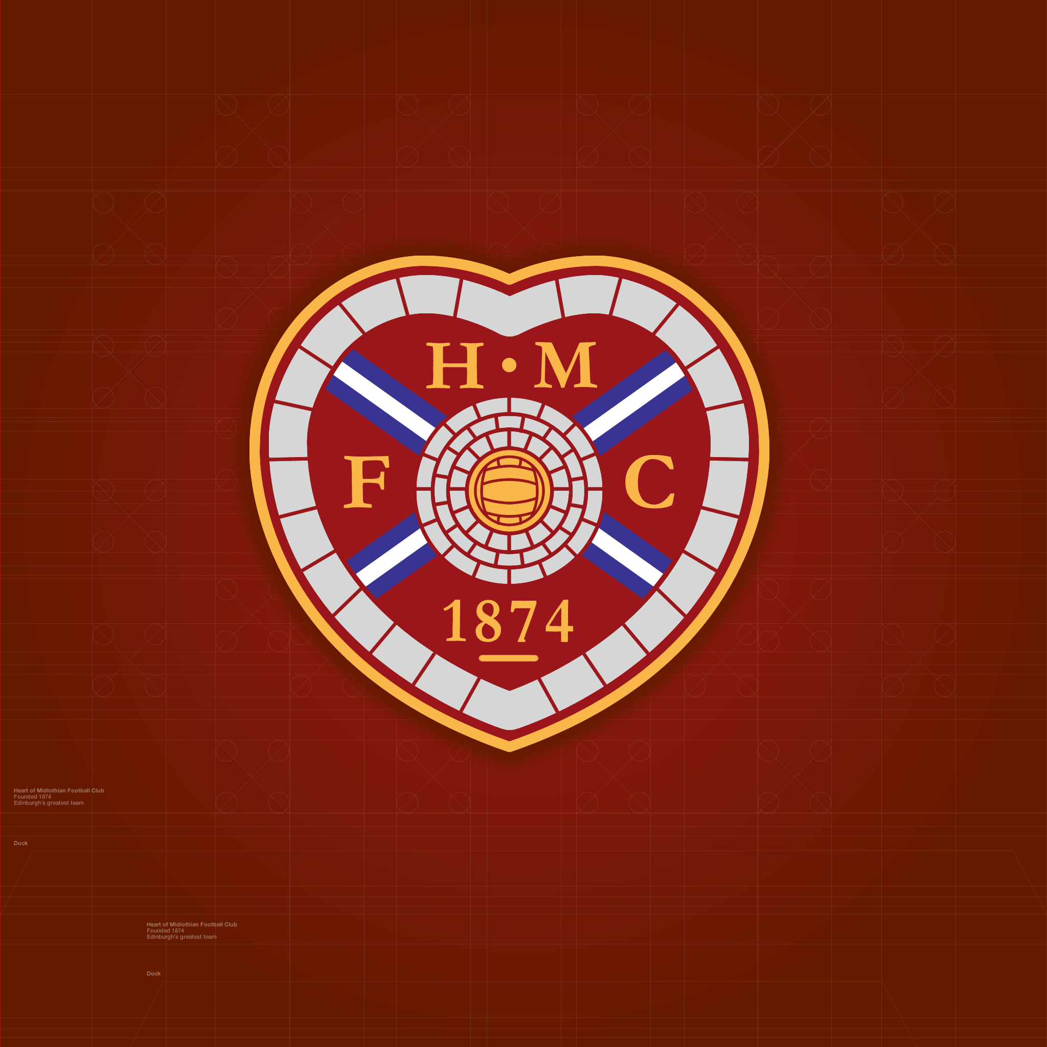 iPad Retina wallpaper Heart of Midlothian